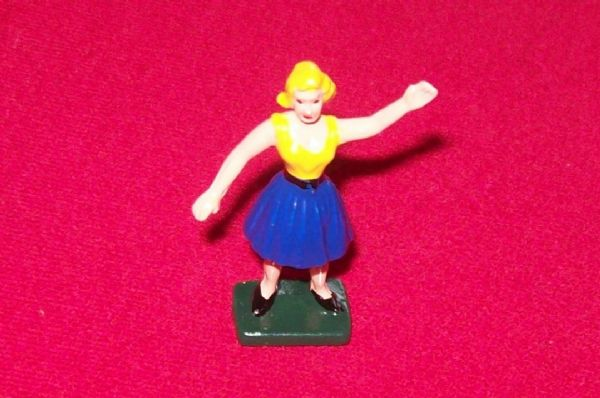 CORGI TOYS 511 - Reproduction - Performing Poodles plastic Mary Chipperfield figure [ PAINTED ]